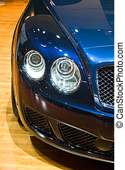 BOLOGNA, ITALY - 15 DECEMBER 2008: Bentley Continental GT displayed at the motor show of Bologna, Italy