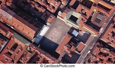 Bologna Italy aerial view - aerial view - drone flying over...