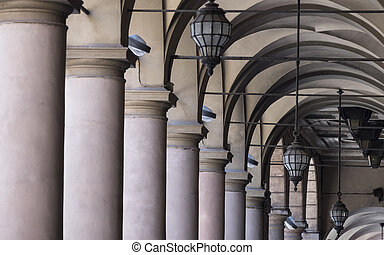 Bologna (Italy): typical portico