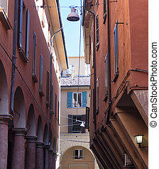 Bologna (Italy): typical street