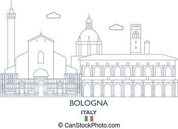 bologna, láthatár, olaszország, város