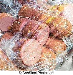 bologna, salsicce, frigorifero