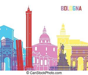 Bologna skyline pop in editable vector file