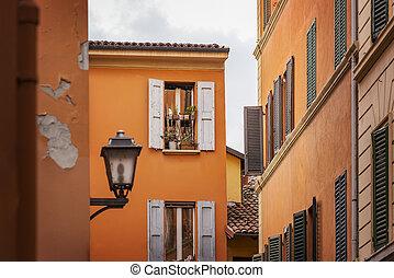 Bologna street corner