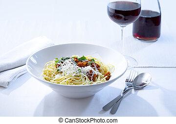 bolognese, スパゲッティ