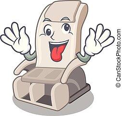 bolond, apró alakzat, szék, karikatúra, masszázs