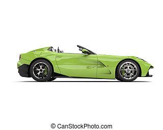 bolond, autó, modern, -, sport, zöld, átváltható, szuper, szegély kilátás