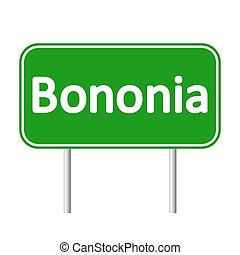 Bolonia road sign. - Bolonia road sign isolated on white...