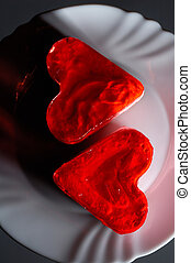 bolos, encantador, heart-shaped