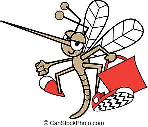 bolsa, bolsa, mosquito, tenencia, o