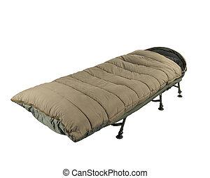 bolsa, campo, cama, sueño