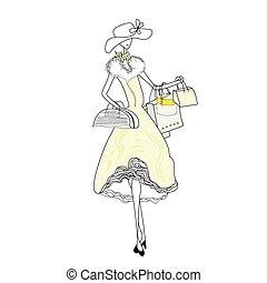 bolsa, compras de mujer