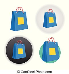 bolsa, compras, icono