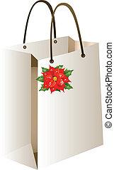 bolsa, compras, navidad