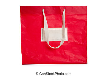 bolsa, compras, rojo