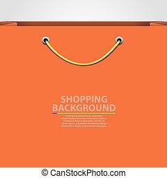 bolsa, concept., compras, vacío, fondo.