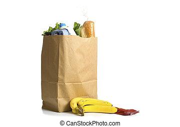 bolsa de comestibles, blanco