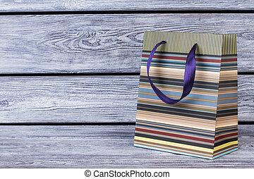 bolsa de compras de papel, con, copia, space.
