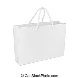 bolsa de papel, aislado, blanco, plano de fondo