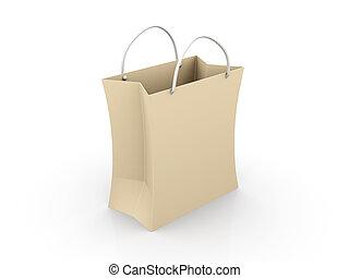 bolsa, papel, compras