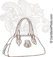 bolsa, plano de fondo, ornamento