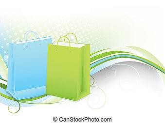 bolsas, compras, plano de fondo