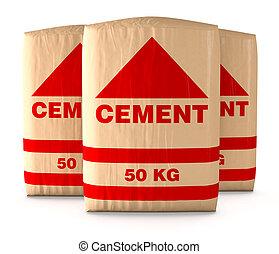 bolsas, de, cemento