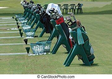 bolsas, escuela, golf