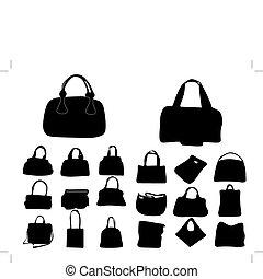 bolsas, mujer