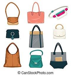 bolsas, mujeres, estilos, moda, colección, mochilas
