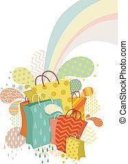 bolsas, resumen, compras, diseño