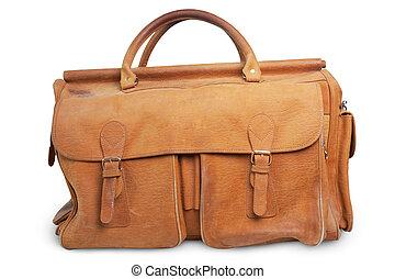 bolsas, viejo, equipaje