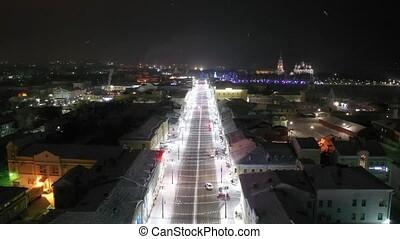 Bolshaya Moskovskaya Street. Winter calm night landscape in...
