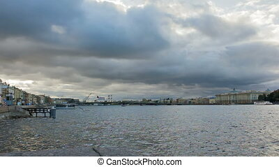 Bolshaya Neva is the largest armlet of Neva river. St...