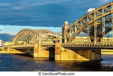 Bolsheokhtinsky Bridge in Saint Petersburg - Russia