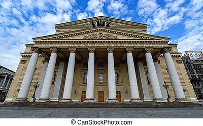 Bolshoi (Big) Theater, Moscow - Facade of the Bolshoi (Big) ...