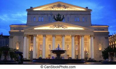 Bolshoi Theatre at twilight, Moscow - Bolshoi Theatre Ballet...