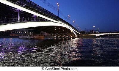 Bolshoy Ustinsky Bridge in Moscow, Russia