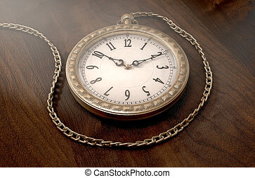 bolsillo, reloj, cadena