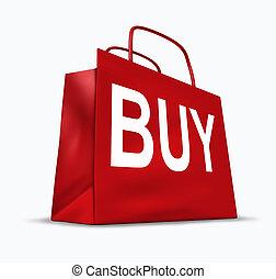 bolso de compras, comprar, símbolo