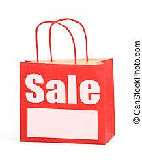 bolso de compras, con, espacio de copia