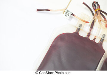 bolso de la sangre, en, laboratory.