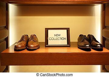 bolt, öltözet, cipők, ember