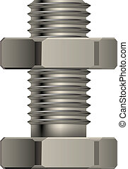 Bolt and nut for fixture in a vector