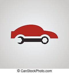 bolt, autó megjavítás, jel