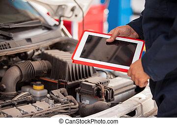 bolt, autó, számítógép, tabletta, használ