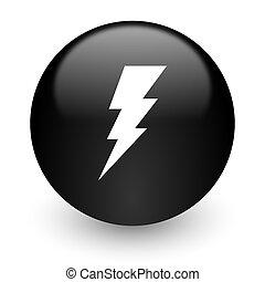 bolt black glossy internet icon