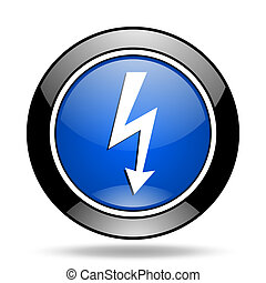 bolt blue glossy icon