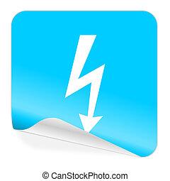 bolt blue sticker icon