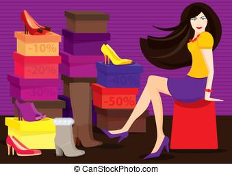 bolt, cipő